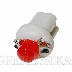 Автолампа 12V B8.5d 1.2W RED светодиод с патроном