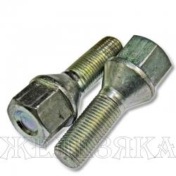 Болт колеса М12х1.25/28х55 конус ключ 19 буртик литой диск