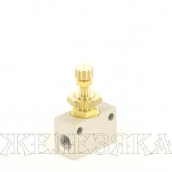 Дроссель пневматический M12x1-G1/8 ду=2мм