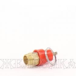 """Клапан предохранительный для компрессора 8Бар, 1/4"""" с кольцом"""