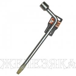Ключ баллонный Г-образный 21 мм L=450 мм с лопаткой АВТОДЕЛО