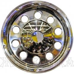 Колпаки колесные R-22.5 52AR INOX задние к-т 2шт