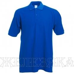 Рубашка-поло цв. василек р.M