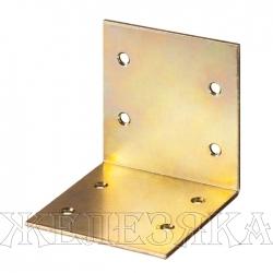 Уголок мебельный широкий УМШ-2.0 25х25х25х2мм желтый цинк ЗУБР