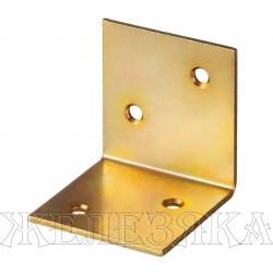 Уголок мебельный широкий УМШ-2.0 40х40х40х2мм желтый цинк ЗУБР