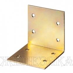Уголок мебельный широкий УМШ-2.0 60х60х60х2мм желтый цинк ЗУБР