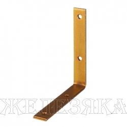 Уголок мебельный узкий УМ-2.0 25х25х17х2мм желтый цинк ЗУБР