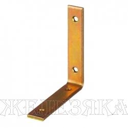 Уголок мебельный узкий УМ-4.0 100х100х20х4мм желтый цинк ЗУБР