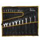 Набор ключей комбинированных 6-36мм (Chrome vanadium) сатинированных планшет 21 предмет ЭВРИКА 1/4