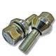 Болт колеса М12х1.25/24.5х57 конус-шайба ключ 19 для замены PCD +/-1.2мм цинк BIMECC