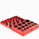 Набор колец уплотнительных 30 размеров 382шт.резиновых 5А красные