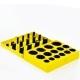 Набор колец уплотнительных 30 размеров 386шт.резиновых 5С желтые