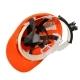 Каска защитная строительная оранжевая, храповый мех-м рег.размера