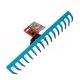 Грабли 16-зубые прямые 410мм без ручки GARDENA
