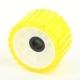 Ролик опорный прицепа L=75мм, d (вала)=22мм, D(внеш.)=128мм желтый