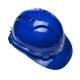 Каска защитная строительная синяя, храповый мех-м рег.размера