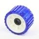 Ролик опорный прицепа L=75мм, d (вала)=22мм, D(внеш.)=128мм синий