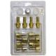 Болт колеса М12х1.25/27х52 конус ключ 17 12шт+секретки 4+1 GOLD Anmax