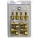 Болт колеса М12х1.5/27х52 конус ключ 17 16шт+секретки 4+1 GOLD Anmax