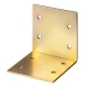 Уголок мебельный широкий УМШ-2.0 30х30х30х2мм желтый цинк ЗУБР