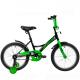 """Велосипед 18""""NOVATRACK STRIKE черный-зелёный тормоз нож. короткие крылья"""