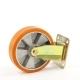 Колесо для тележек неповоротное D=200мм 700кг, алюминиевое, полиуретан, крепление платформенное EMES