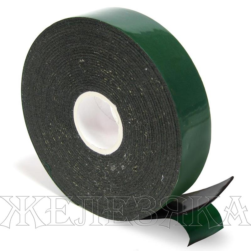 скотч двухсторонний зеленый