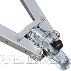 Прицеп для квадроцикла ССТ-7132 МИНИ сталь оцинков.1500х760х270 мм с тентом H=300мм г/п 550кг